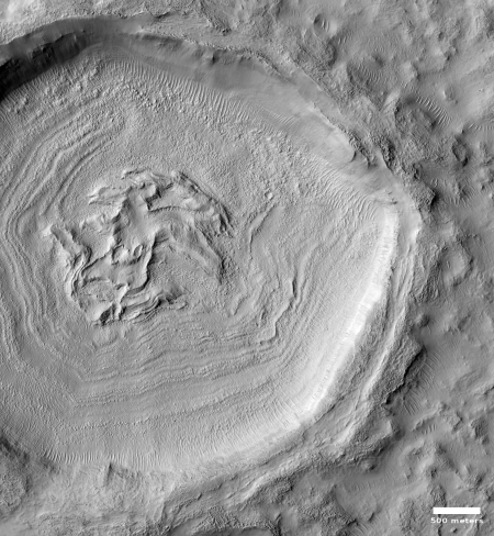 Concentric crater glacial fill