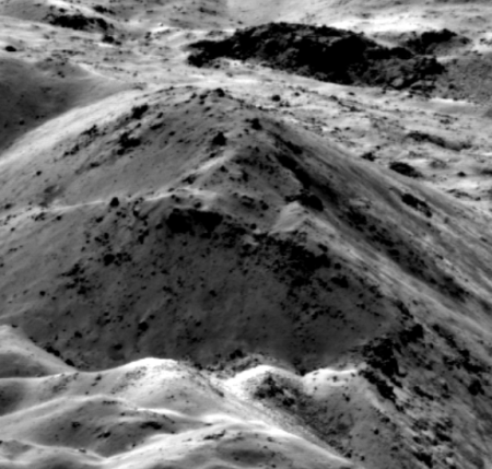 Central peaks of Jackson Crater