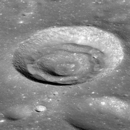 Concentric crater in Apollo Basin on the Moon