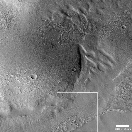 An example of a nearby lobate debris apron glacier