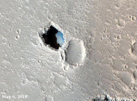 pit on Mars