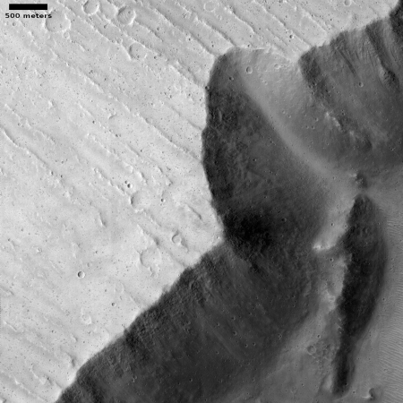 Cliff collapse on Mars