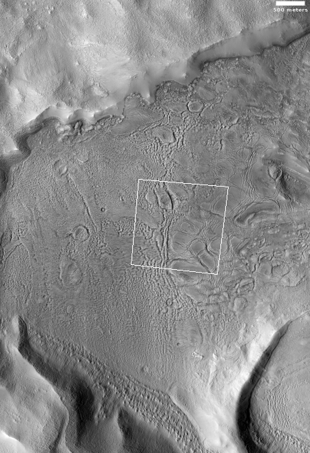 An eroded glacier on Mars?