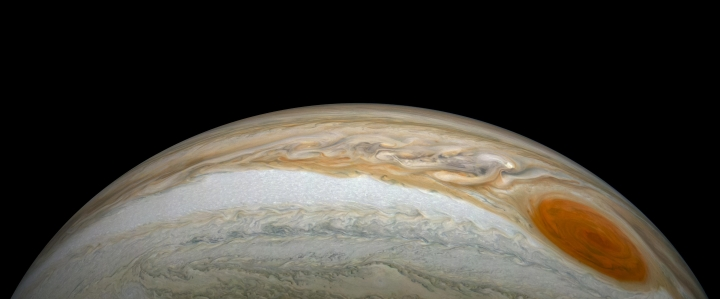 The Great Red Spot and its trailing storms