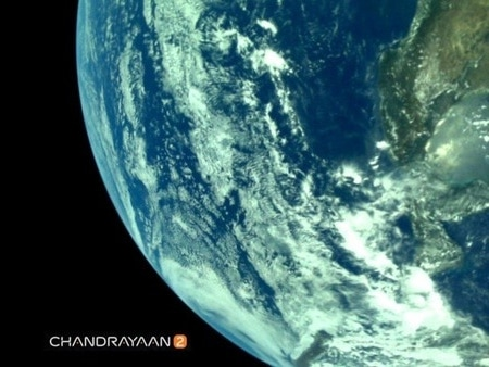Earth from Chandrayaan-2