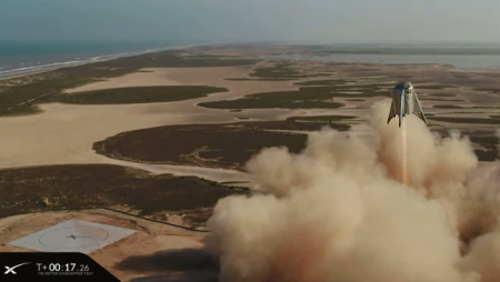 Starhopper in flight