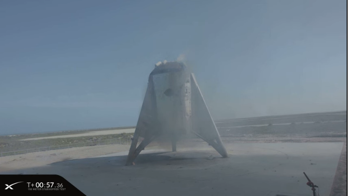 Starhopper on the ground