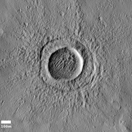 Impact crater north of Pavonis Mons