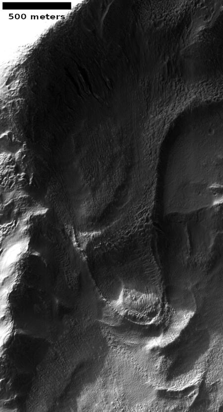 Tongue-shaped glacier on Mars