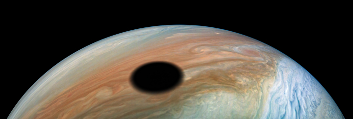 Io's shadow on Jupiter