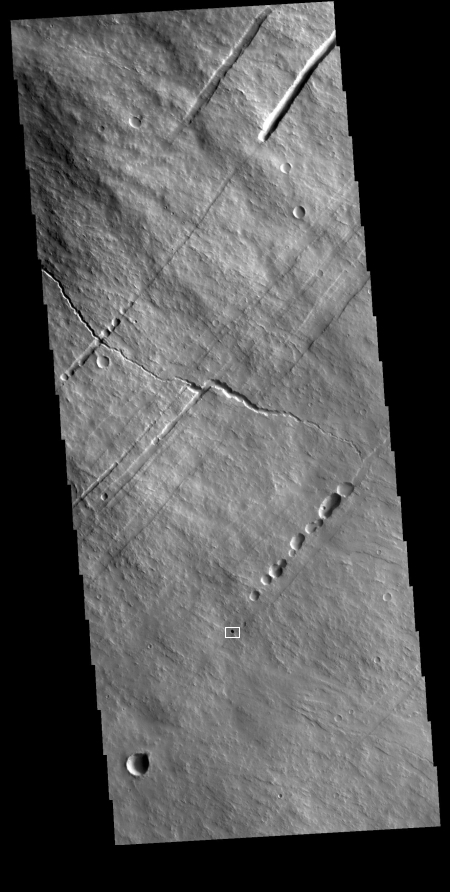 Wide image of pit on southeast flank of Pavonis Mons
