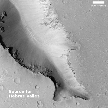 One of the sources for Hebrus Valles