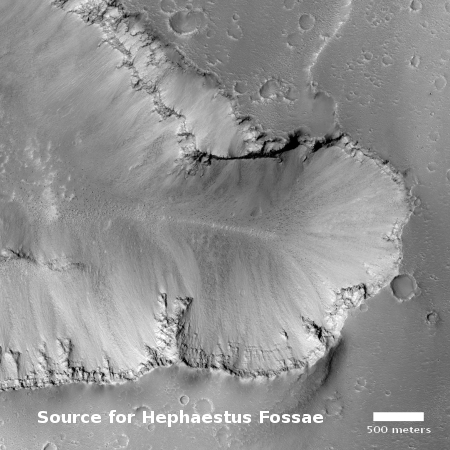 Source for Hephaestus Fossae