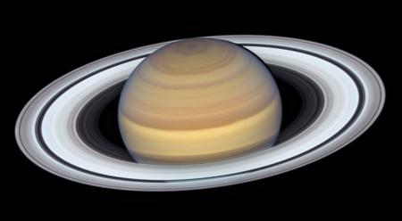 Saturn taken by Hubble in 2019