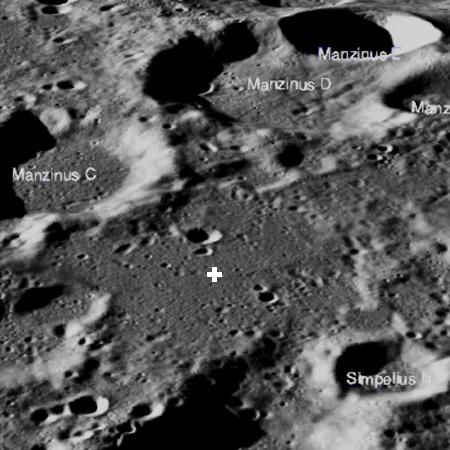 Overview of Vikram landing area