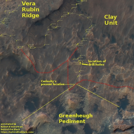 Curiosity's present location in Gale Crater