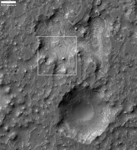 Context of depressions in Columbus Crater