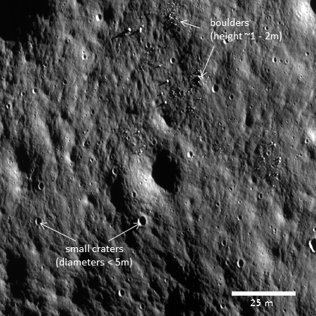 One of Chandrayaan-2's first hi-res images