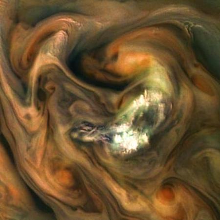 The cloud tops of Jupiter