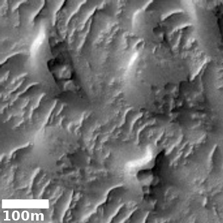 Eroding dunes on the floor of Valles Marineris