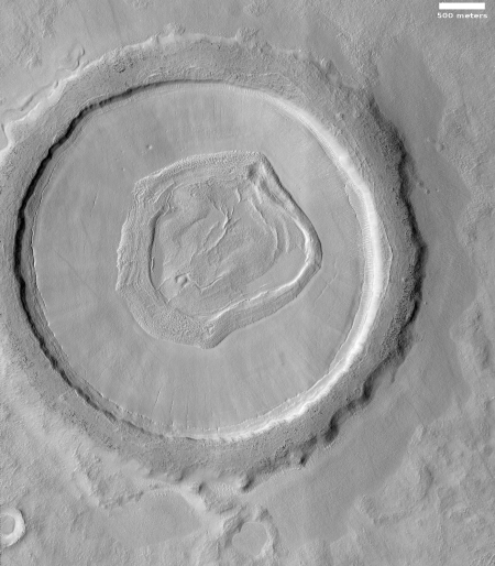 Crater in Utopia Planitia