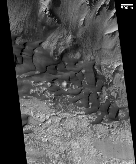 Dunes on the floor of Valles Marineris