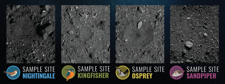 Four candidate landing sites