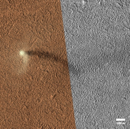 Martian dust devil!