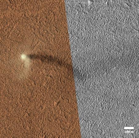 Martian dust devil!