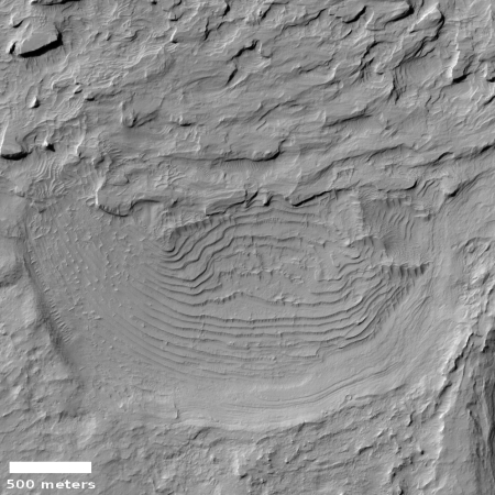 Built up layers on Mars