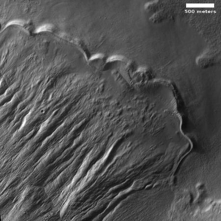Remnant moraine on Mars