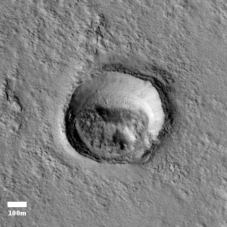 small crater south of ridge