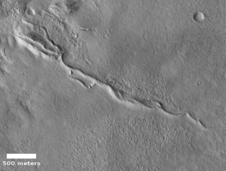Sinuous ridge on Mars