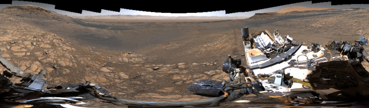 Panorama looking north across Gale Crater