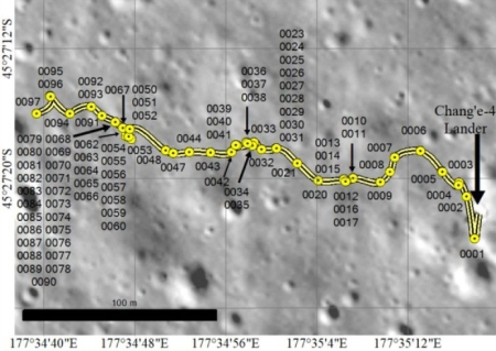 Yutu-2's travers through its 1st 12 lunar days on the Moon