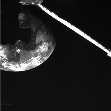 The Earth seen from BepiColumbo