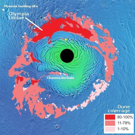 The Martian North Pole