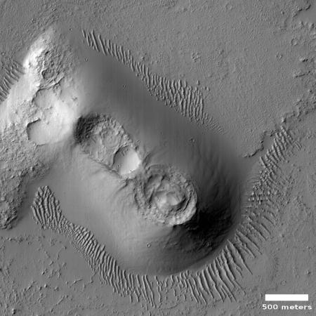 Cratered cone near Noctis Fossae