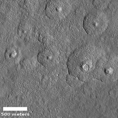 Depressions in Amazonis Planitia