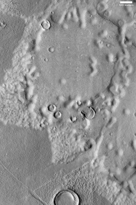 flow-like feature in Utopia Planitia