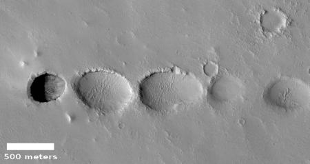 Pit northwest of Elysium Mons