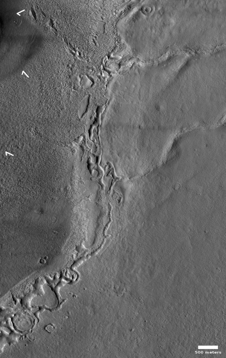 The edge of an eroded buried Maritian glacier