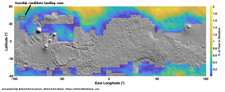 Map of seasonal salty liquid water on Mars