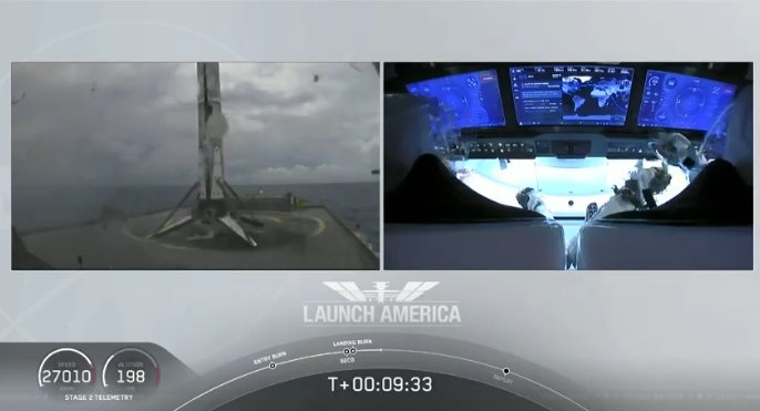 First stage landed