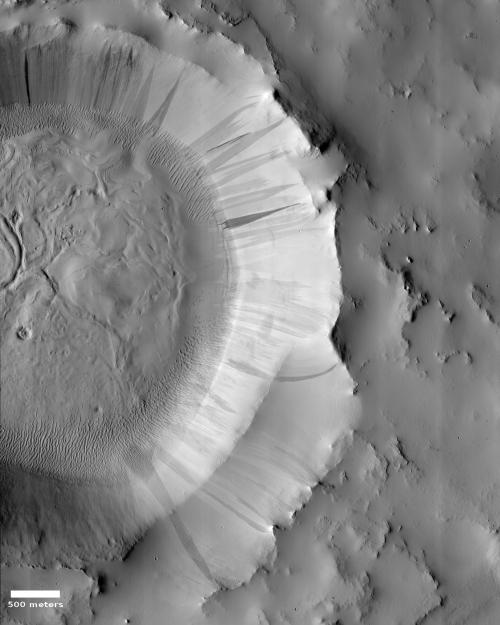 Fading Martian slope streaks