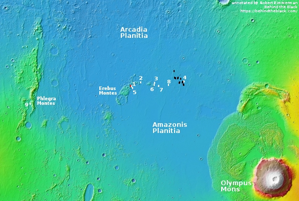 Overview map of Starship landing site images