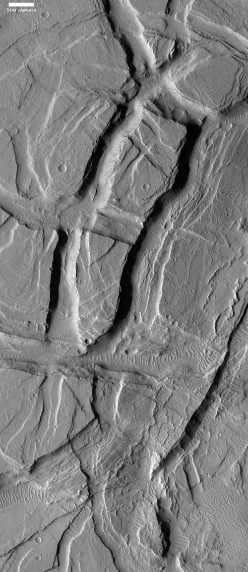 Enigmatic layering and chasms