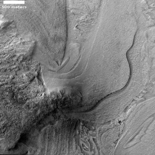 More strange terrain in Hellas Basin