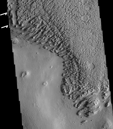 Eroding Medusae Fossae Formation ash deposits