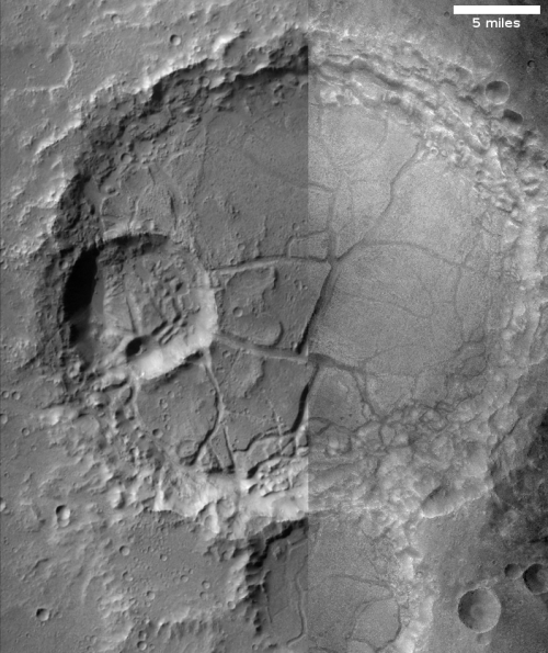 Unnamed crater in Margaritifer Terra